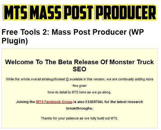 MTS Mass Post Producer Plugin For WordPress