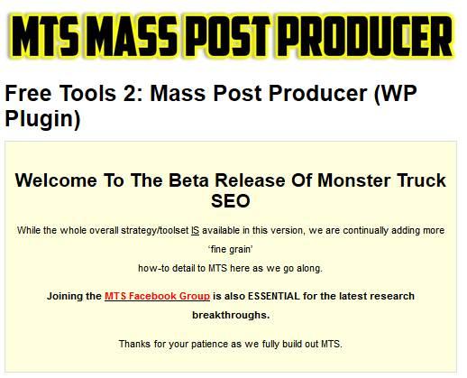 MTS Mass Post Producer Plugin For WordPress