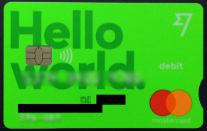 TransferWise MasterCard bodiless bank account sample debit card