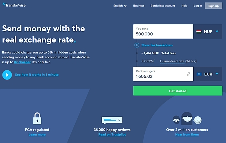 the official webpage of transferwise