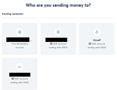 who are you sending money to