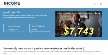 A picture of Income School Main Website